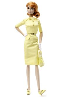 All things related to fashion dolls and their world. Fashion Royalty Dolls, Fashion Dolls, Teen Fashion, Retro Fashion, Poppy Doll, Poppy Dress, Poppy Parker, Teen Models, Yellow Fashion
