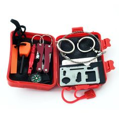 Wilker Survival Kit Emergency SOS Survive Tool Pack for Camping Hiking Hunting Biking Climbing Traveling and Emergency ** Want additional info? Click on the image.