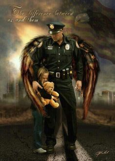 Policemen are angels too