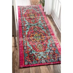 Oriental Vintage Distressed Abstract Multi Runner Area Rugs, 2 Feet 6 Inches By 8 Feet x Rugs USA Oriental Pattern, Rugs Usa, Home Decor Kitchen, Kitchen Dining, Dining Set, Kitchen Ideas, Room Kitchen, Indoor Rugs, My New Room