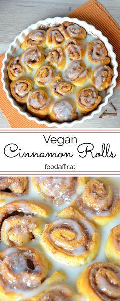 vegan cinnamon rolls - foodaffair.at Vegan Cinnamon Rolls, Vegans, Favorite Recipes, Snacks, Dinner, Breakfast, Desserts, Blog, Dining