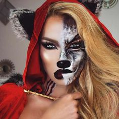 Halloween Face Makeup Ideas for a Big Party ★ See more: https://makeupjournal.com/halloween-face-makeup-party-ideas/ #makeup #makeuplover #makeupjunkie