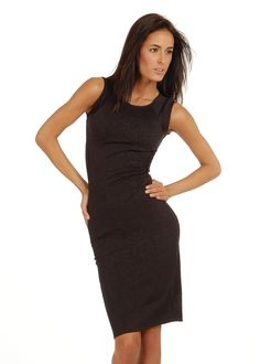 Cute Floral Dress- Knee Length Dress- Long Body Con Dress #modaxpress #style #fashion