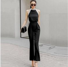 Elegant Beading Body con Jumpsuits for Women 2018 Spring Summer Black Sleeveless Long Pants Overall Party Office Rompers Formal Jumpsuit, Petite Jumpsuit, Bodycon Jumpsuit, Jumpsuit Outfit, Long Pants, Playsuits, Jumpsuits For Women, New Fashion, Beading