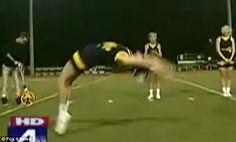 Miranda Ferguson: 16-year-old cheerleader breaks handspring world record at her halftime football game
