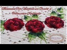 """Flor Viciadas em Crochê e Folha para Aplicação - """"Marcia Rezende - Arte em Crochê"""" - YouTube Baby Blanket Crochet, Crochet Baby, Knit Crochet, Crochet Designs, Crochet Patterns, Crochet Videos, Antique Lace, Crochet Flowers, Doilies"""