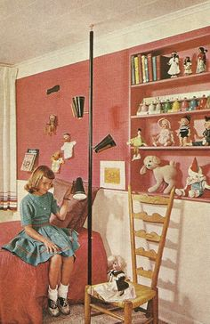 Vintage Home Decorating, Children's Rooms, 1960s Style