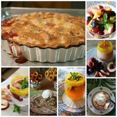 7 Simple Recipes for White Peaches - homemade peach pie, fresh fruit salad, white peach spritzer, and so much more. Seven easy recipes for the those fresh peaches. Find it here. CeceliasGoodStuff.com | Good Food for Good People