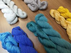 Shibui yarns are made to be mixed together! Color pairings in Shibui Linen and Cima.