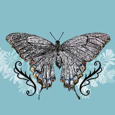 scribble butterfly