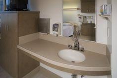 Corian® Patient Room vanity detail.