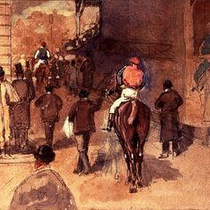 Edgar Degas, Leaving the Paddock (detail), 19th century. Stolen from the Isabella Stewart Gardner Museum 1990
