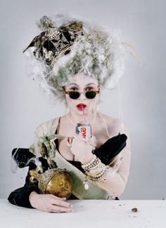 an old queen back from the dead.  Helena Bonham Carter by Tim Walker