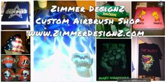Zimmer DesignZ Custom Airbrush S  Custom airbrush shop located in Houston, Texas.  We paint a large number of items.  That range from helmet, motorcycle tins, computers, Xbox's, PS3's, mailboxes, baseball and softball gear to many more.  - made with simplebooklet.com