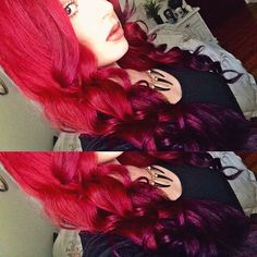 <3 red reverse ombre