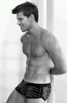 Taylor Lautner - as much as I hate the whole Twilight series, he sure his hot...