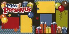 Piles of Presents-Boy Page Kit Scrapbook Frames, Kids Scrapbook, Christmas Scrapbook, Scrapbook Albums, Scrapbook Cards, Scrapbooking Ideas, Birthday Scrapbook Layouts, Scrapbook Page Layouts, Vacation Scrapbook