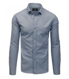 Elegantná šedá pánska košeľa Premium s dlhým rukávom Modeling, Shirt Dress, Fit, Mens Tops, Shirts, Dresses, Women, Fashion, Vestidos