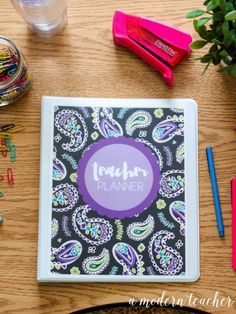 A Modern Teacher Purple Paisley Planner - A fresh, functional, and fabulous Teacher Binder to keep you organized! from www.amodernteacher.com $