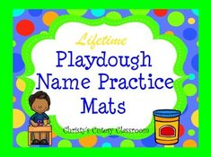 A literacy center MUST!!!  A child's name is one of the most important first words they will learn.  When you purchase this package, you will be getting  adorable customized playdough name mats for each student in your class each year that you teach!  No more making them each year.