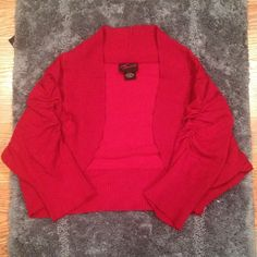 Cropped Red Cardigan  HP - Blogger Style Party 05/10/15  Worn Once | Excellent Condition | Cropped | 3/4 Sleeves | Lightweight | Great For Dresses Or Over Tanks | Perfect For Any Occasion | Stunning Red | Fits Like A XL | 72% Rayon | 28% Polyester | Trades | Feel Free To Ask Questions | More  Upon Request | Bundles Are 15% Off ❤| Torrid Sweaters Cardigans