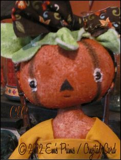 primitive halloween pumpkin face doll country decor by emsprims 2200 whimsical halloween pinterest country decor primitives and dolls