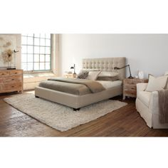 CHATEAU DE LOIRE UPHOLSTERED QUEEN BED - BEDS - Bedroom - Campagne Style Furniture - Mobilia Living with Style