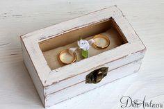 Wedding Ring Bearer Pillow Box Beach Bearer Box Rustic by ArtDidi