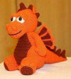 Au crochet - Page Dragon En Crochet, Crochet Dragon Pattern, Crochet Animal Patterns, Stuffed Animal Patterns, Crochet Animals, Cross Stitch Patterns, Crochet Patterns Amigurumi, Crochet Toys, Free Crochet