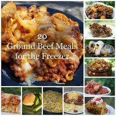 20 Ground Beef Meals for the Freezer are as easy as Having a stockpile of freezer meals is invaluable especially when you get sick for a few . Hamburger Freezer Meals, Budget Freezer Meals, Frugal Meals, Beef Meals, Freezer Cooking, Freezer Recipes, Crockpot Meals, Bulk Cooking, Freezable Meals