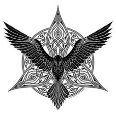 Raven Tattoo, symbolic to Morrigan (The Morrigan)- pic from Google Search