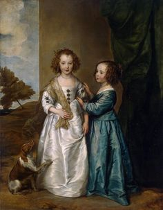 Anthony van Dyck - 1599 - 1641, Poetrait of Philadelphia and Elisabeth Cary, 1635 Oil on canvas / 130 x 162 /