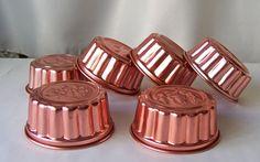 Vintage Copper Tone Aluminum Jello Molds Set of Six Acorn Pineapple Cherry Apple Grape Clover Jello Mould Copper Tone Kitchen 1980s by cynthiasattic on Etsy
