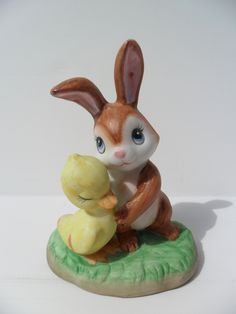 Lefton China Bunny & Duck Figurine 2347