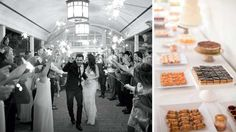 Fun, easy wedding idea: Give your guests sparklers for a lively, radiant send-off at the end of the night   Real Wedding: Lauren DeDonato & Kelan Smith   Photo by: Matthew Land Studios   Seattle Met Bride and Groom W/S 14