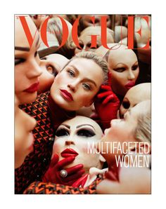 Vogue Italia September 2012 cover with Carolyn Murphy (shot by Steven Meisel)