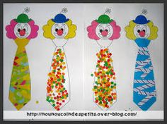 Clown Crafts, Circus Crafts, Theme Carnaval, Masking Tape, Le Clown, Mardi Gras, Carnival, Crafts For Kids, Preschool