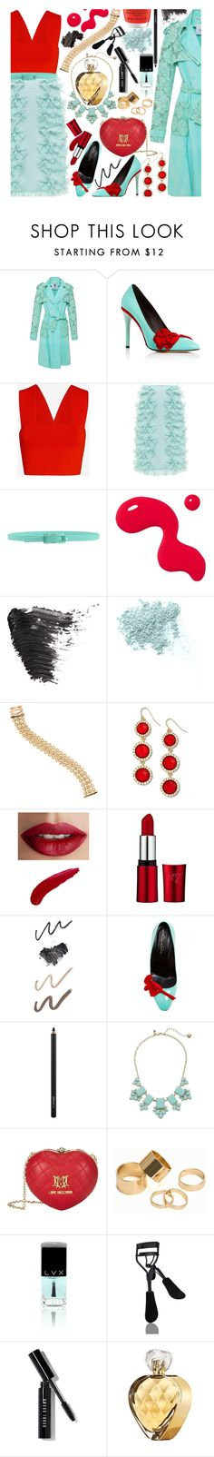 """253"" by virtual-closet-collector ❤ liked on Polyvore featuring Blumarine, Oscar de la Renta, A.L.C., Rochas, Tie-Ups, Topshop, Bare Escentuals, Cartier, Venus and TheBalm"