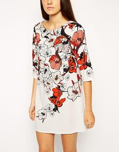 ASOS PETITE Beautiful Floral Shift Dress