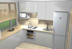 Projekt małej kuchni 1