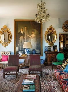 Sue Townsend's 15c. Florentine palazzo via T magazine. Photo by Oberto Gili  #interiordesign #italy