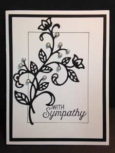A Flourishing Phrases and Flourish Thinlits Sympathy Card