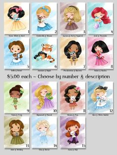 Disney Princess Cartoons, Disney Princesses And Princes, Disney Princess Drawings, Princess Disney, Baby Princess, Disney Fan Art, Watercolor Mixing, Watercolor Art, Cute Disney Drawings