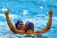 Michael Alexandre Bodegas Photos - Matteo Aicardi #11 of Italy celebrates with Michael Alexandre Bodegas #6 against Team Montenegro during their Men's Water Polo Bronze medal match on Day 15 of the Rio 2016 Olympic Games at the Olympic Aquatics Stadium on August 20, 2016 in Rio de Janeiro, Brazil. - Water Polo - Olympics: Day 15