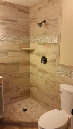 Italian Porcelain 12x24 Tile Called Formations Almond Sands With A Gl And Stone Mosaic Blend Accent Alpine Slimplicity