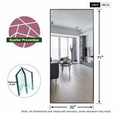 Modern Aluminum Alloy Thin Framed Full Length Floor Mirror - On Sale - Overstock - 30393628 - 71x31x1 - Gold Full Length Floor Mirror, Full Mirror, Mirror Mirror, Mirror Shapes, Modern Frames, Wall Mounted Mirror, Large Furniture, Minimalist Decor, Home Decor Outlet