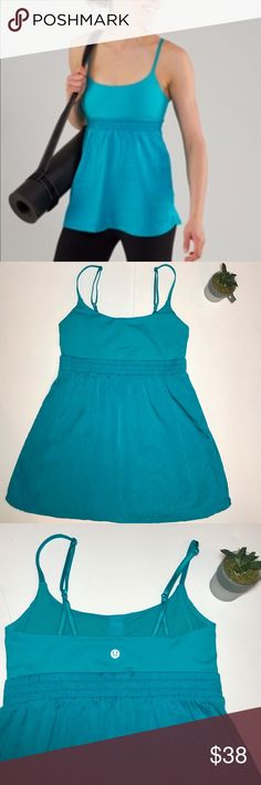 • LULULEMON ATHLETICA • turquoise bliss tank Gently worn Lululemon Athletica bliss tank in turquoise. Size 6. Worn only a few times! Great condition! Very soft & comfortable. Scrunch under bust. Adjustable straps! Open to reasonable offers! 💕 lululemon athletica Tops Tank Tops