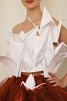 Cover Dress sisterMAG Issue N°4: white paper cranes #origami