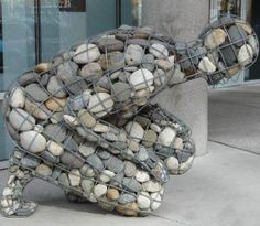 Stones Yard Art ... Neat Idea