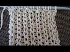 Pletenje - 1 patent bod   Knitting Tutorial - False English rib